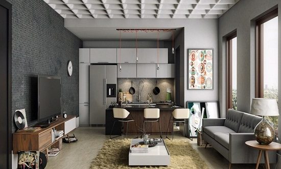Masculine kitchen design according a male taste