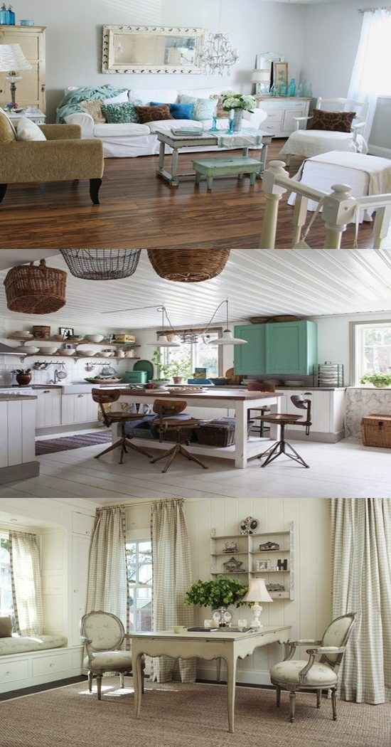 Shabby chic design to get an elegant and welcoming kitchen
