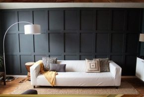 Wood cladding for enhancing and modernizing the bedroom look