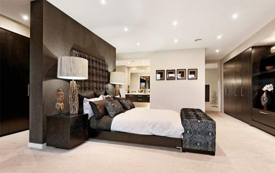 Enhance your master bedroom with a modern décor
