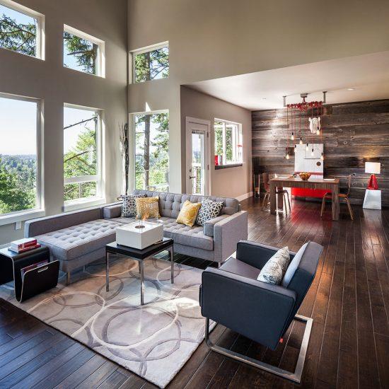 Trendy Modern Rustic Living Space Ideas by Jordan Iverson