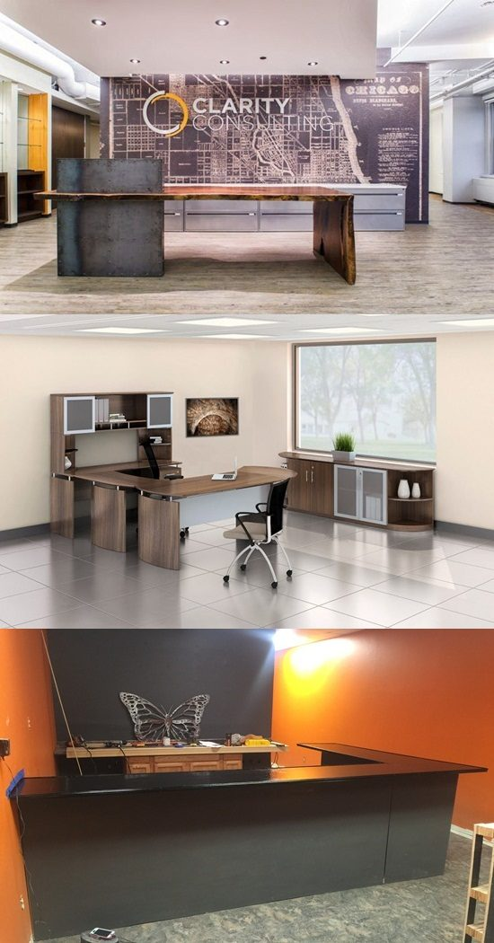 Enhance your business place with a gorgeous reception desk