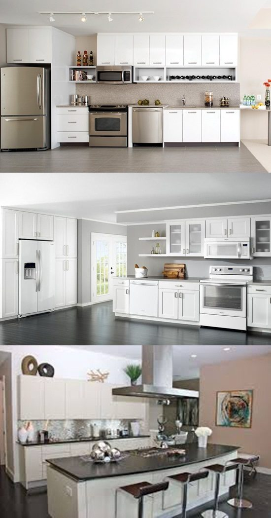 Get your stylish white and black kitchen