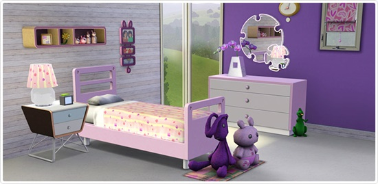 Girl's bedroom set for a comfortable and happy feeling