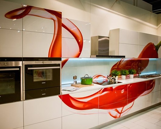 modern Kitchen Designs Designs with Red Cabinets that pop the overall look