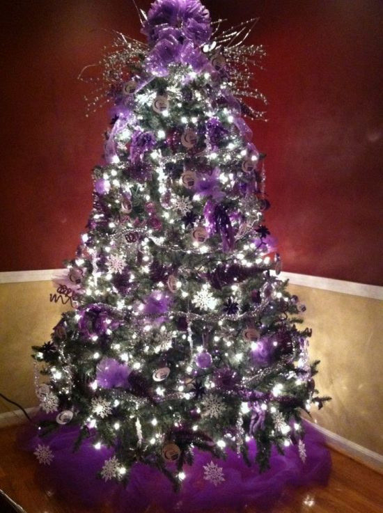 christmas tree decorating themes the most recent themes of this year for todays decorations - Purple And Blue Christmas Tree Decorations